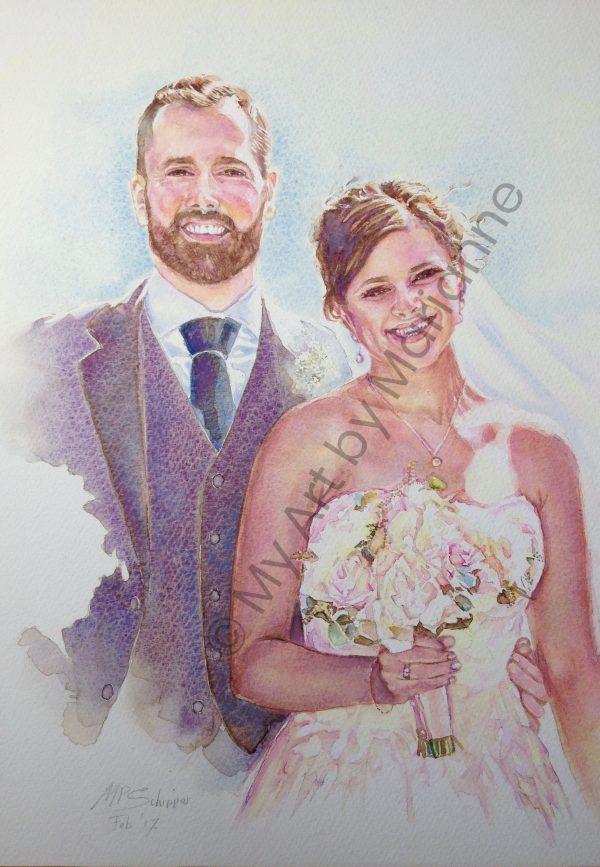Wedding Couple by Marianne P Schipper